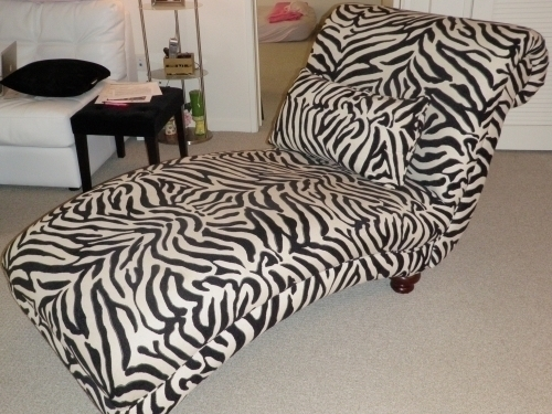 Zebra chaise lounge in los angeles ca 90001 for Animal print chaise lounge furniture
