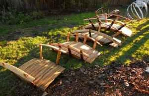 Garden Bridges 100 Reclaimed Oak From Wine Barrels 3 4 5