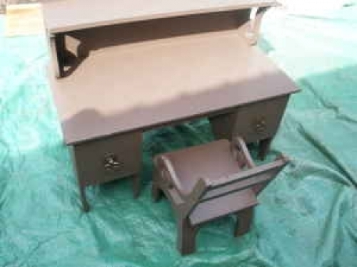 Antique childs desk and chair art and crafts style unique for Furniture auburn wa